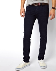 Dr. Denim Dr Denim Snap Skinny Jeans In Navy Blue