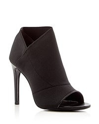 Charles David Diana Open Toe Cutout Heel Booties Compare At 210 Black
