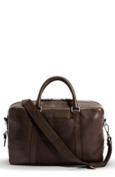 Shinola Men's Leather Briefcase Brown Deep Brown