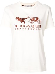 Coach Logo T Shirt Nude And Neutrals