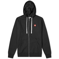 Wood Wood Dan Full Zip Hoody Black