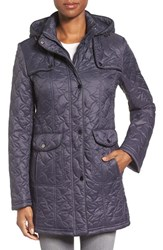 Larry Levine Women's Hooded Quilted Coat Midnight