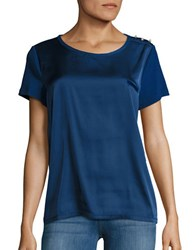 Karl Lagerfeld Multi Textured Short Sleeved Top Atlantic