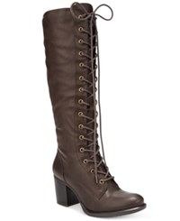 American Rag Lorah Lace Up Boots Only At Macy's Women's Shoes Brown