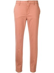 Closed Classic Cropped Trousers Pink Purple