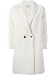 Forte Forte Boxy Double Breasted Overcoat Nude And Neutrals