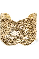 Aurelie Bidermann Lace Gold Plated Cuff