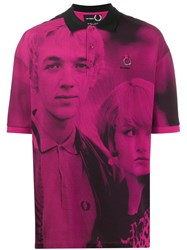 Fred Perry Raf Simons X Oversized Printed Polo Shirt Pink