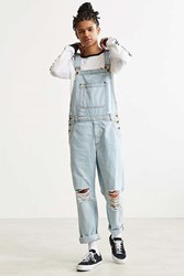 Bdg Destructed Ice Wash Denim Overall Vintage Denim Light