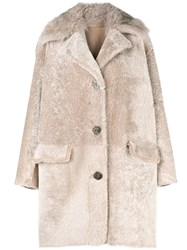 Sylvie Schimmel Single Breasted Coat Nude And Neutrals
