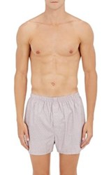 Sunspel Men's Dotted Cotton Boxers Red
