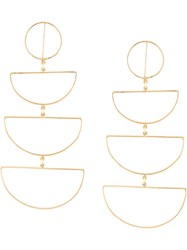Mercedes Salazar Columpio Cascading Earrings Gold