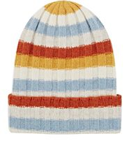 The Elder Statesman Women's Striped Cashmere Rib Knit Beanie Multi