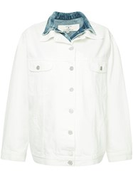 Natasha Zinko Double Collar Denim Jacket White