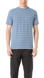 Norse Projects James Fine Stripe Tee White Navy