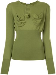 J.W.Anderson Jw Anderson Fitted Knitted Top Merino Green