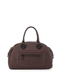 Oryany Belinda Leather Bowler Satchel Coffee