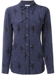 Equipment Ballerina Print Shirt Blue
