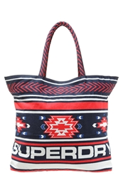 Superdry Tote Bag Navy Coral Multicoloured