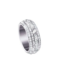 Piaget Possession Turning Pave Diamond Band Ring In 18K White Gold