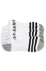 Adidas Men's Original Roller 3 Pack No Show Socks White Black