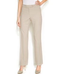 Calvin Klein Petite Straight Leg Houndstooth Print Trousers