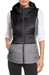 The North Face Women's 'Pseudio' Quilted Vest Tnf Black Tnf Dark Grey
