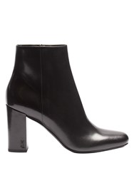 Saint Laurent Babies Leather Ankle Boots Black