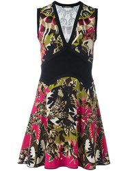 Roberto Cavalli Floral Print Short Dress Multicolour