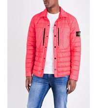 Stone Island Quilted Shell Jacket Red