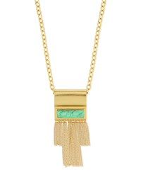 Waterfall Long Pendant Necklace Turquoise Stephanie Kantis