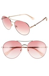 Kate Spade New York Joshelle 60Mm Aviator Sunglasses Pink Polarized