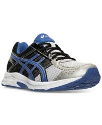 Asics Men's Gel Contend 4 Wide Running Sneakers From Finish Line Silver Classic Blue Black