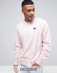 Russell Athletic Sweatshirt With Embroidered Logo Pink