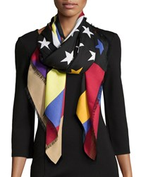 Givenchy Colorful American Flag Scarf Multi