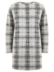 Mint Velvet Check Cocoon Coat Multi