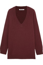 Alexander Wang T By Wool And Cashmere Blend Sweater Burgundy