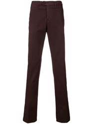 Canali Straight Chino Pants Red