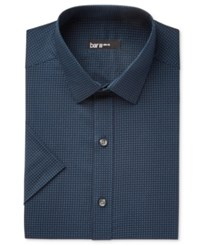 Bar Iii Men's Slim Fit Stretch Easy Care Short Sleeve Dress Shirt Only At Macy's Blue