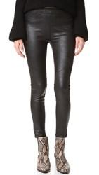 Free People Faux Leather Never Let Go Leggings Black