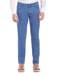 Corneliani Straight Fit Denim Jeans Blue