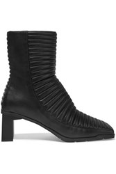 Balenciaga Quilted Leather Ankle Boots Black