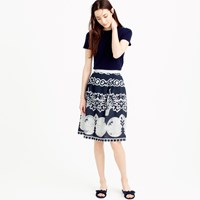 J.Crew Petite Midi Skirt In Ornate Lace