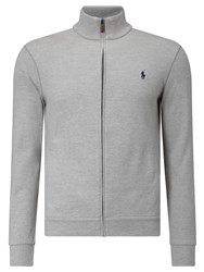 Polo Ralph Lauren Full Zip Knitted Track Top Light Grey Heather