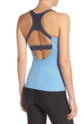 Alo Yoga Women's Venture Tank With Shelf Bra Saltwater Saltwater Metallic