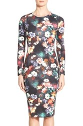 Felicity And Coco Print Scuba Midi Dress Multi