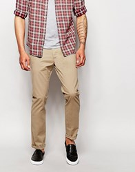 Selected Homme Chinos In Skinny Fit Stone