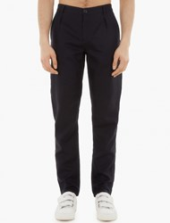 Raf Simons Navy High Waisted Trousers