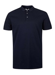 Topman Navy Slim Fit Polo Shirt