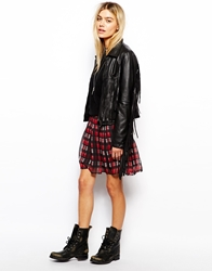 Pepe Jeans Tartan Mini Skirt Red